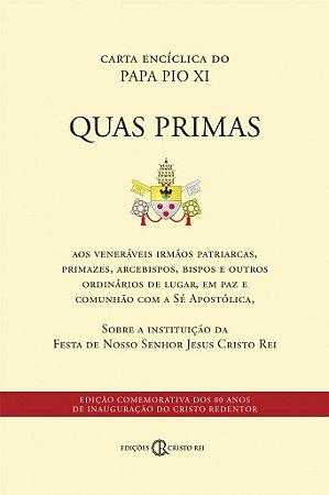 Quas Primas (Pio XI) - Sobre a solenidade de Cristo Rei