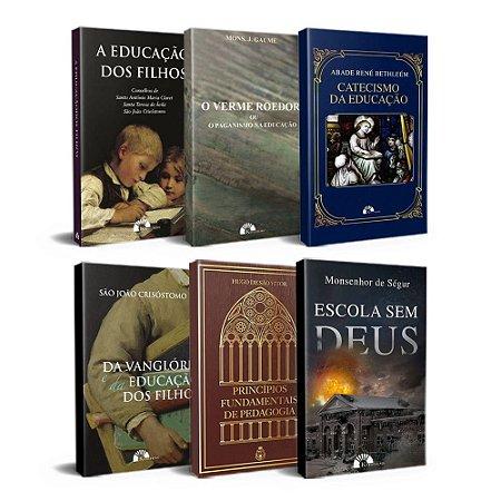 Combo com 6 livros sobre Educação Católica