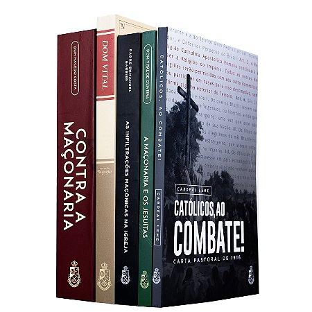 Combo: Maçonaria Inimiga da Igreja (5 livros)