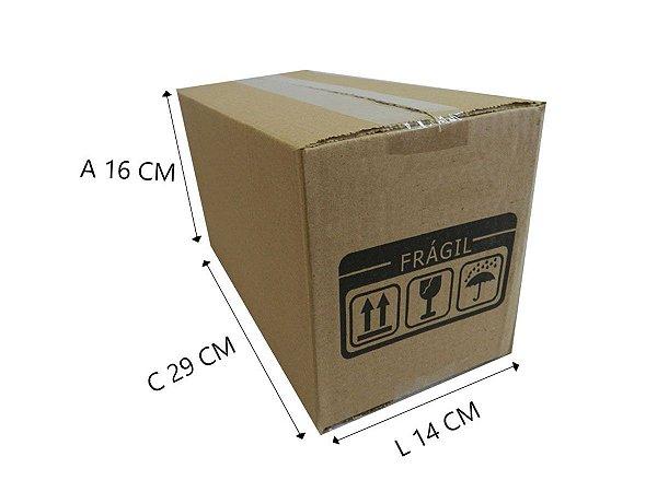 25 Caixas Papelão D17  29x14x16 cm