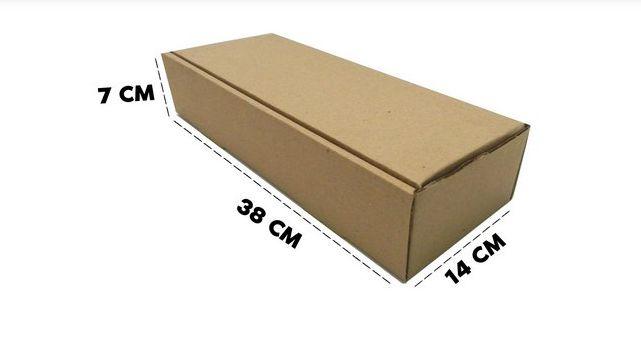 25 Caixas Papelão D18 38x14x7 cm