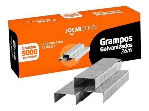 Grampo 26/6 C/ 5000 Unidades Jocar Office
