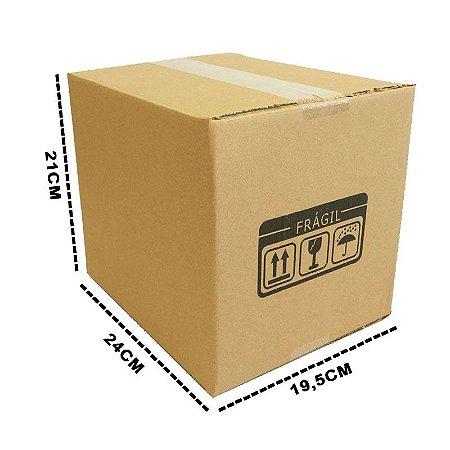 25 Caixas Papelão D7 - 24,5x19,5x21 cm