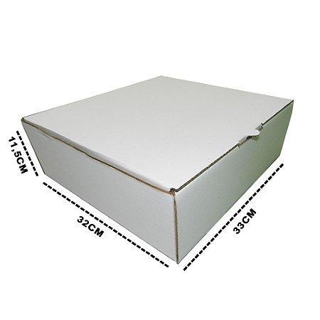 10 Caixas De Papelão Branca Para Tortas E Bolos M  33x32x11,5 cm