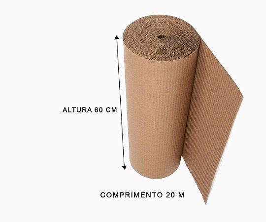 Bobina de papelão ondulado 60 cm - 20 metros