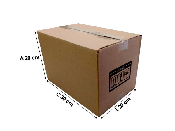 25 Caixas de papelão E11 30x20x20 cm