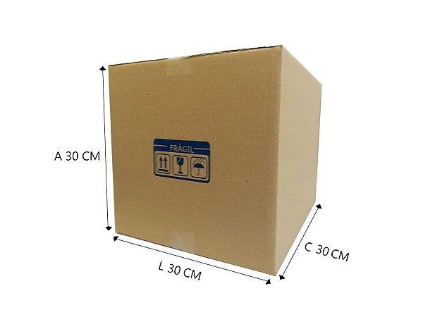 Caixa de papelão E12 30x30x30 cm - 10 unidades