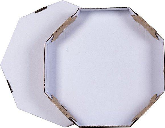 Caixa de Papelão oitavada 19x19x4 cm p/ mini-Pizza - 25 unidades