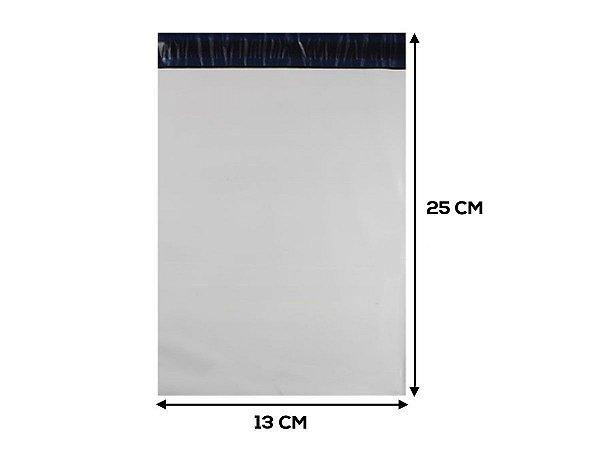 Envelope Plástico de Segurança LISO - 13x25 cm - 250 unidades