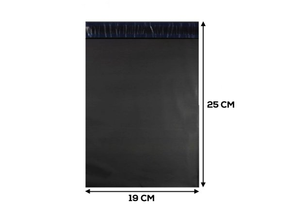 Envelope Plástico de Segurança ECONOMIC - 19x25 - 250 unidades