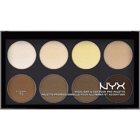 Nyx Paleta de Contorno Highlight 8 Cores