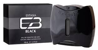 NEW BRAND EXTASIA BLACK MASC EDT 100ML