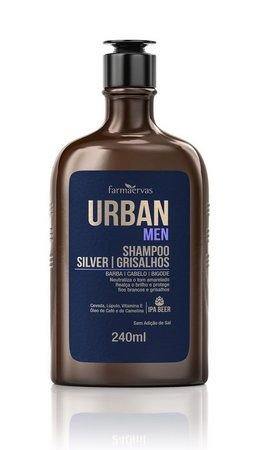 Urban Men Shampoo P/ Grisalhos 240ml