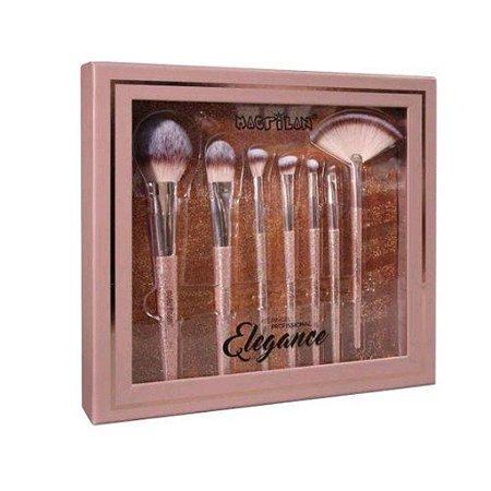 Macrilan Elegance Kit C/ 7 Pinceis ED700