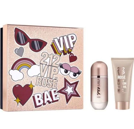 Coffret 212 Vip Rose 80ML + Body Lotion 100ML