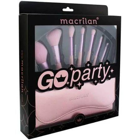 MACRILAN KIT GO PARTY 7 PINCEIS +NECESSARIE