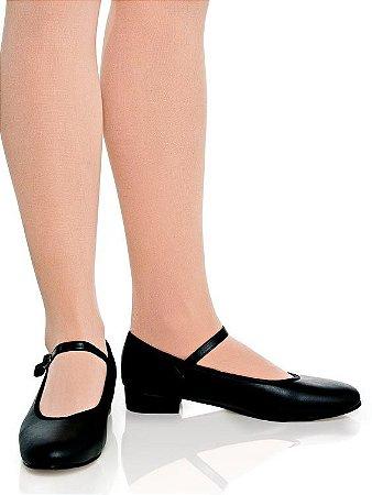 f377fd0c19 Sapato para Sapateado em Korino com Fivela e Salto Capezio Ref 32T