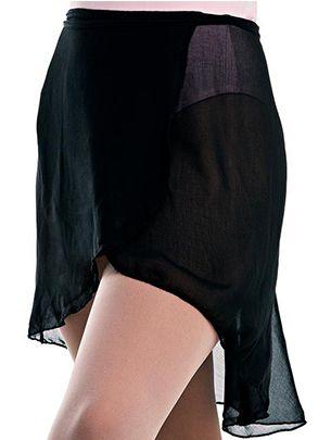Saia de Ballet Adulto Transpassada de Amarrar em Crepe Capezio Ref 12010a