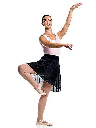 Saia de Ballet em Jersey Cós em Lycra Adulto Capezio Ref 12008a