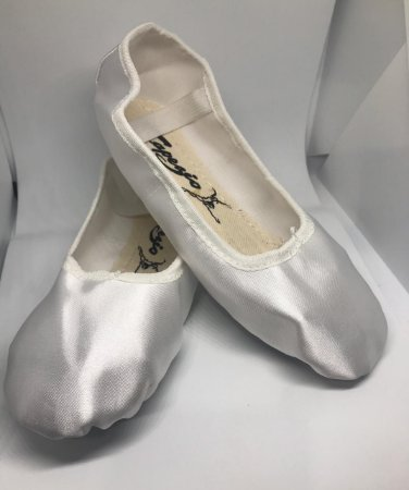 Sapatilha de Ballet Branca Meia Ponta Spring Shoes Cetim Capezio Ref 15