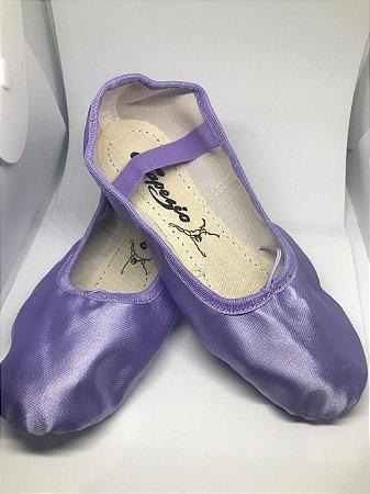 Sapatilha de Ballet Lilás Meia Ponta Spring Shoes Cetim Capezio Ref 15