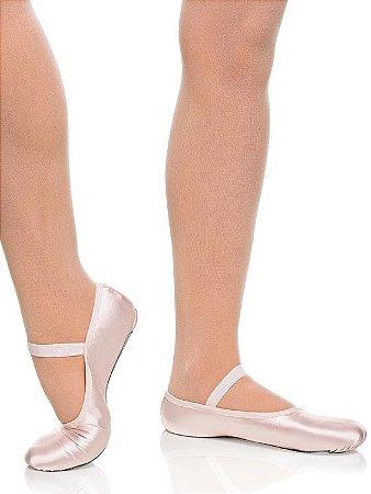 Sapatilha de Ballet Rosa Meia Ponta Spring Shoes Cetim Capezio Ref 15