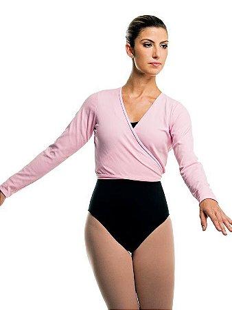 Casaquinho de Ballet Adulto de Transpassar em Helanca Capezio Ref 1055