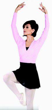 Casaquinho de Ballet Infantil de Transpassar em Helanca Capezio Ref 1055