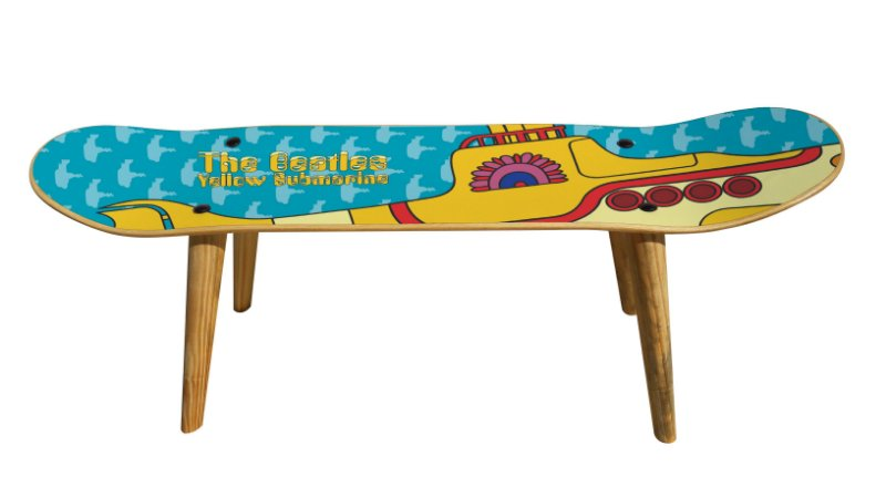 Banqueta Shape Estampado - Yellow Submarine (Beatles)