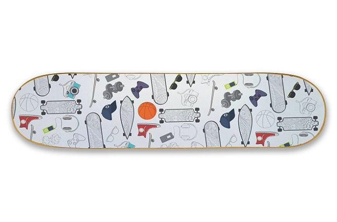 Quadro Shape Estampado - Skate
