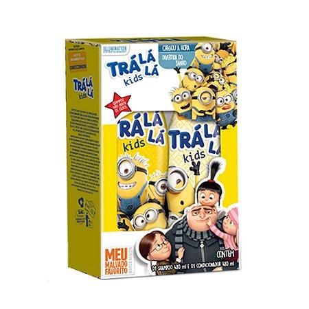 Trá Lá Lá Kids Kit  Sem Embaraço - Personagens - Shampoo 480ML  + Condicionador 480ML