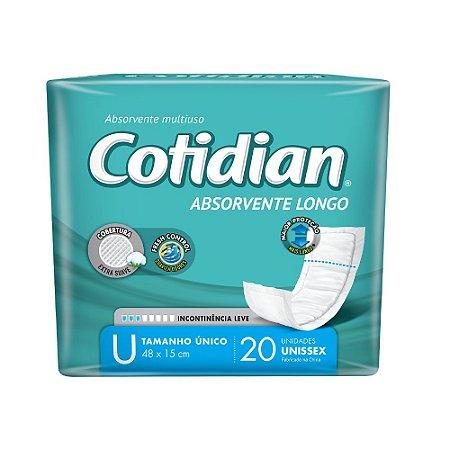 ABSORVENTE ADULTO LONGO COTIDIAN - 20 UNIDADES