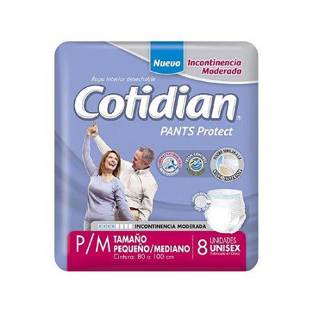 ROUPA ÍNTIMA ADULTA COTIDIAN PANTS P/M - 8 UNIDS