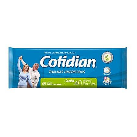 Toalha Umedicida COTIDIAN Adulto - 40 UNIDADES