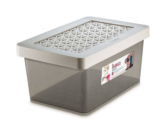 Caixa ORDENE Alta Multiuso capacidade 8,5 Litros-Cor Gelo