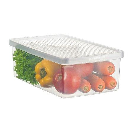 Caixa ORDENE Para legumes e Saladas -Tamanho M-Cor TRANSPARENTE