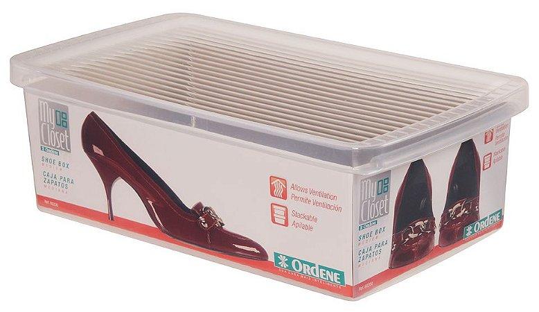 Caixa ORDENE Para Sapato -PEQUENA - Cor Transparente
