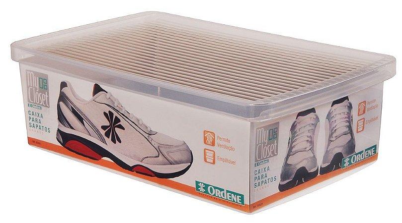 Caixa ORDENE Para Sapatos e Tênis-Tamanho Grande-Cor TRANSPARENTE