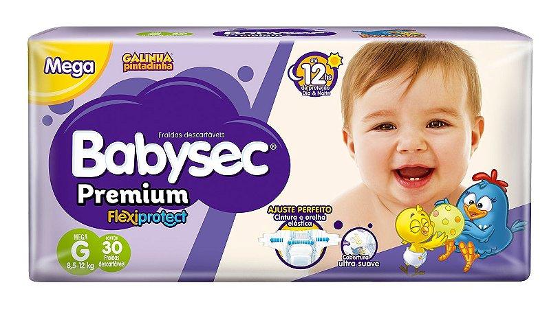 Fralda BabySec GALINHA PINTADINHA Premium - G - 30 unids - Experimente e se Surpreenda
