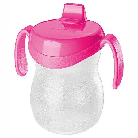 Copo Infantil Plástico-310ml-Cor Rosa-SANREMO