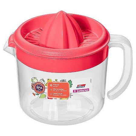 Espremedor de Frutas-Plástico-Cor Vermelho-1,02litros-SANREMO