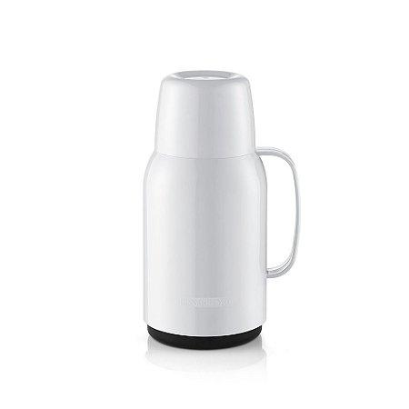 Garrafa Térmica Plástico- Para 01 Litro-GOSTAR-Cor Branca-SANREMO