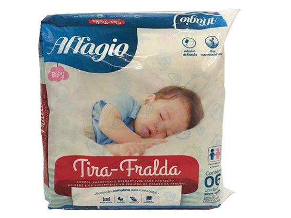 TIRA - FRALDA AFFAGIO 80 X 60 CM Pacote c/6 UND