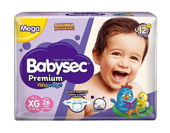 Fralda BabySec GALINHA PINTADINHA Premium - XG - 26 unids