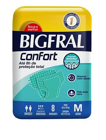 Fralda BIGFRAL CONFORT MD 8 Unidades