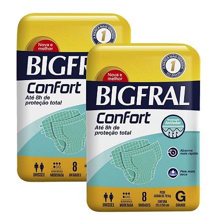 Kit 02 Fraldas BIGFRAL CONFORT GD 16 Unidades