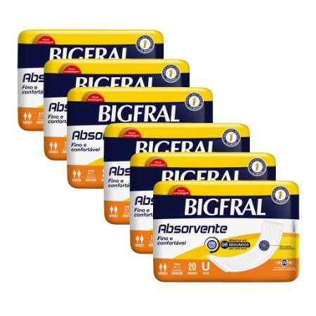 Kit 06 BIGFRAL ABSORVENTE 120 Unidades