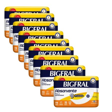 Kit 09 BIGFRAL ABSORVENTE 180 Unidades