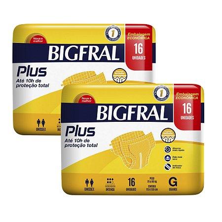 Ksit 02 Fralda BIGFRAL PLUS  GD 32 Unidades