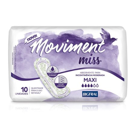 MOVIMENT MISS ABSORVENTE MAXI 10 Unidades